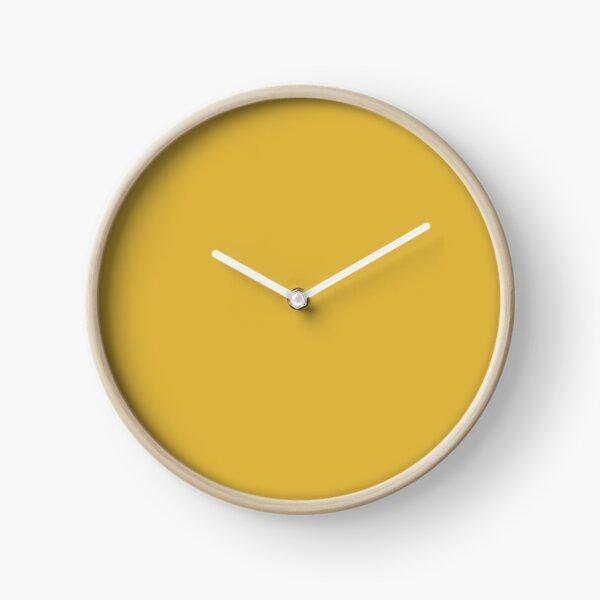 Light Mustard Yellow Solid Clock