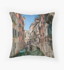 Canal Views of Venice Throw Pillow