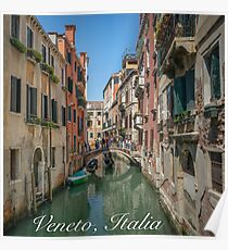 Canal Views of Venice Poster