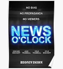 News O'Clock Movie-Style Poster