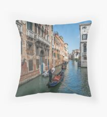 Views of Venice Throw Pillow