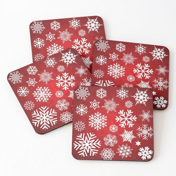 Christmas Snowflakes Coasters (Set of 4)