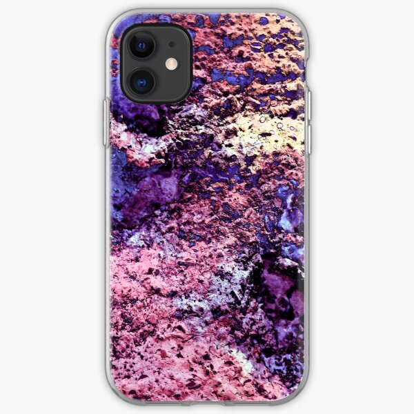 Paw Prints in Purple and Pink iPhone Soft Case