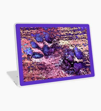 Paw Prints in Purple and Pink Laptop Skin