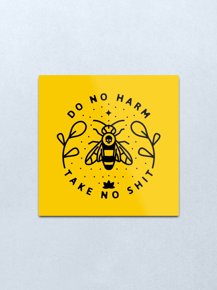 Alternate view of Do No Harm Metal Print