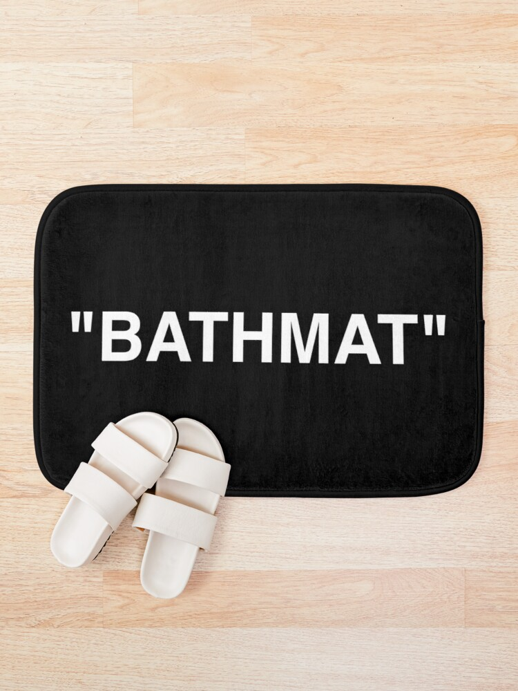 Alternate view of Bathmat Quotation Marks White Bath Mat