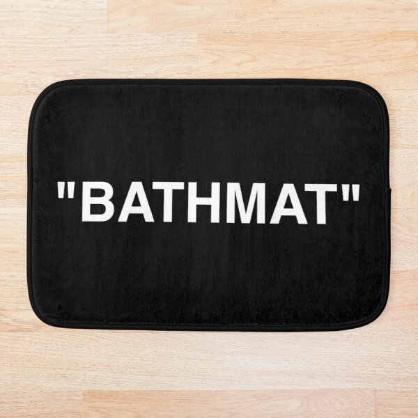 Bathmat Quotation Marks White Bath Mat