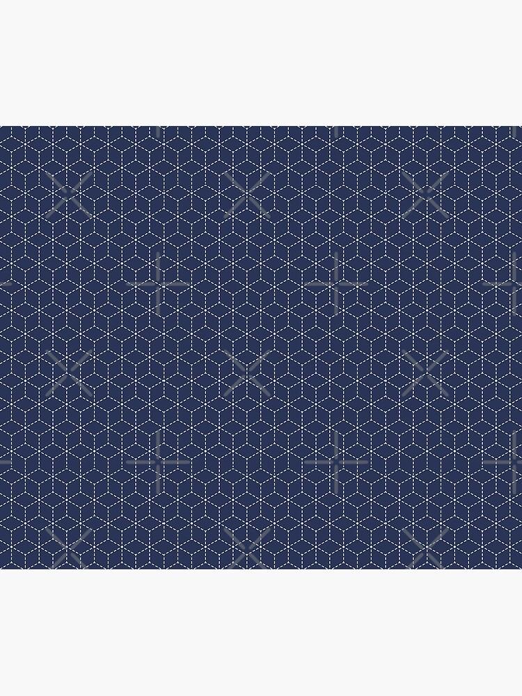 Sashiko stitching indigo pattern 1 by PrintablesP