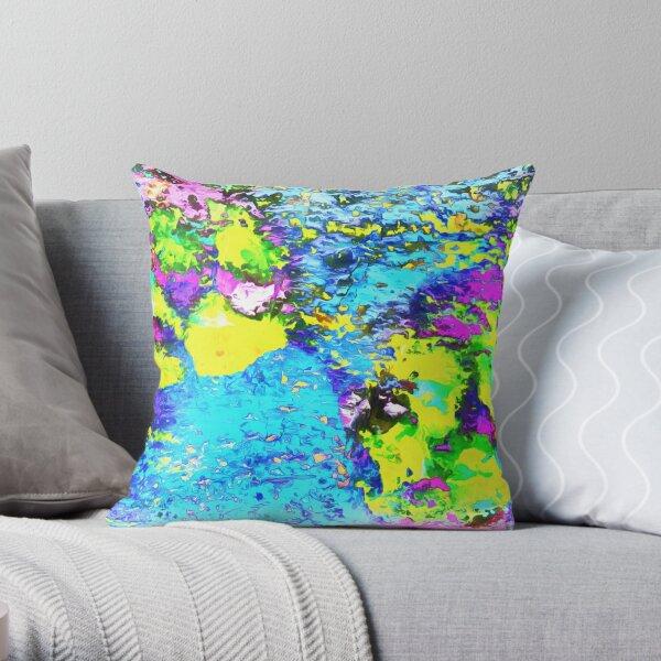 Paw Prints Seaside Paddle Throw Pillow