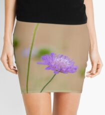 Soft Focus Romantic Flower Art Mini Skirt