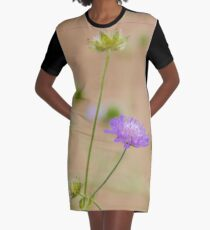 Soft Focus Romantic Flower Art Graphic T-Shirt Dress
