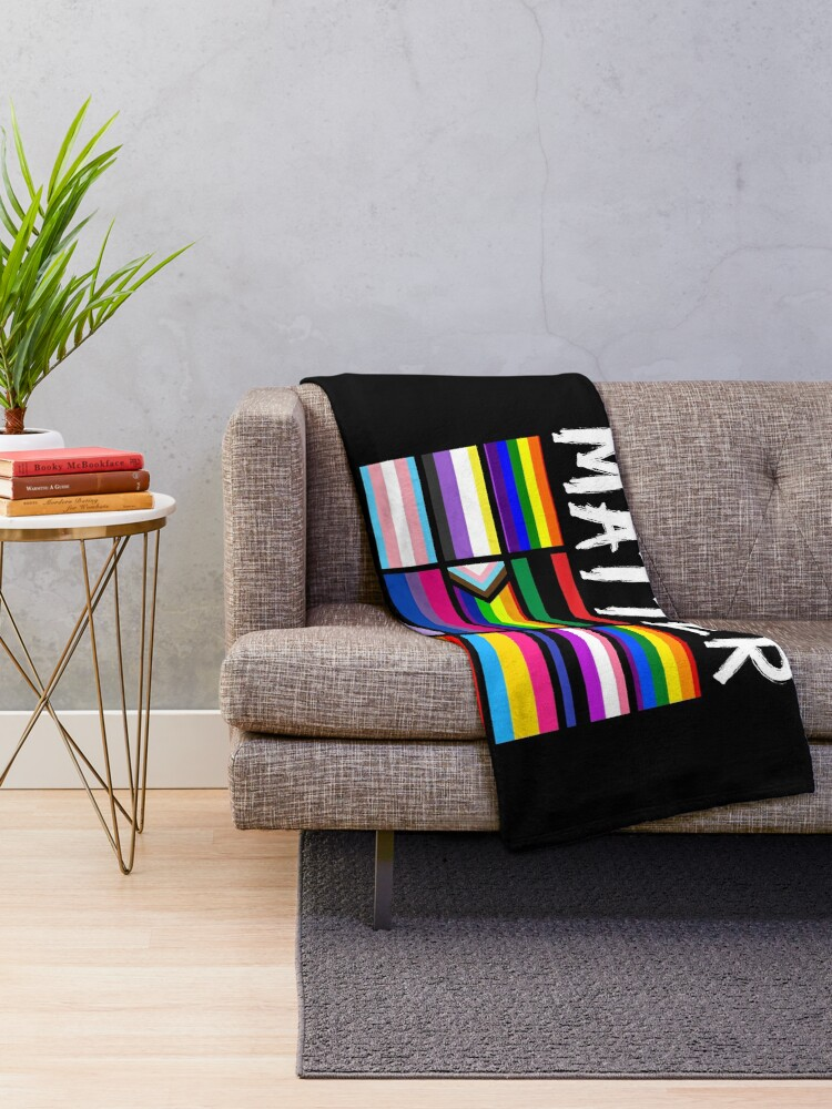 Alternate view of ALL BLM Throw Blanket