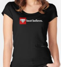 best believe Fitted Scoop T-Shirt
