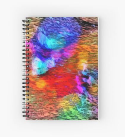 Paw Prints Christmas Lights Spiral Notebook