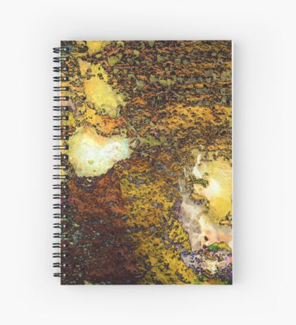 Paw Prints Gold Spiral Notebook