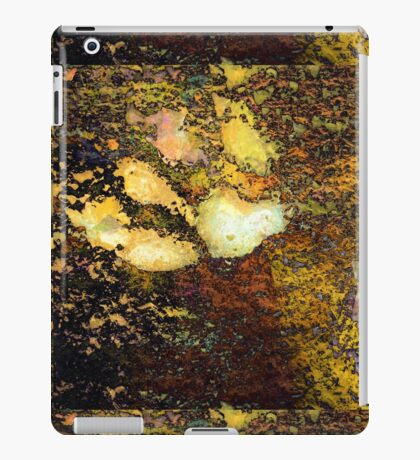 Paw Prints Gold iPad Case/Skin