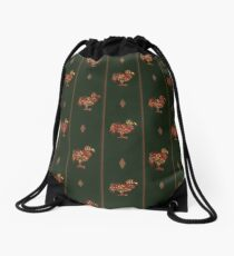 Dodo pattern dark Drawstring Bag