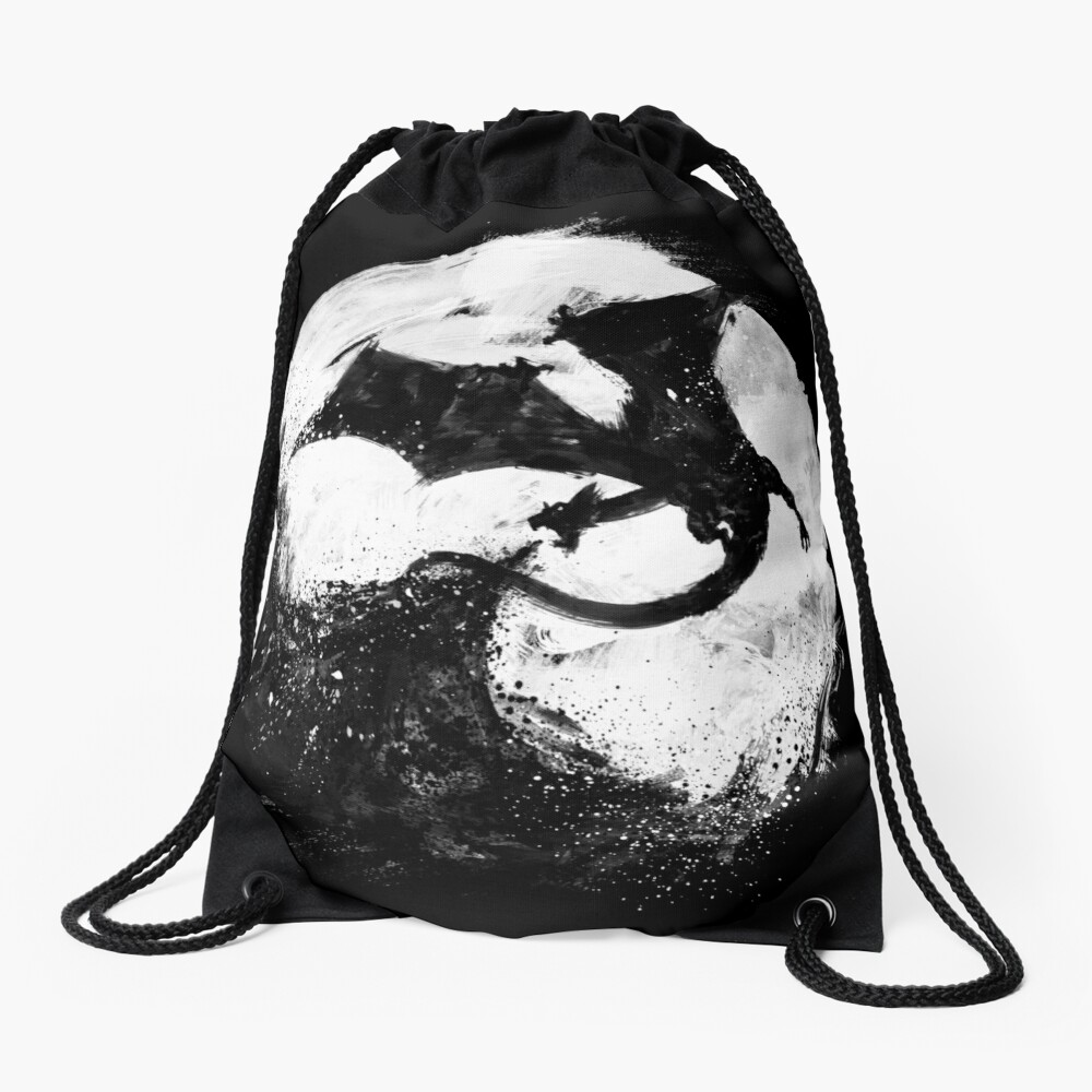 Midnight Desolation Drawstring Bag