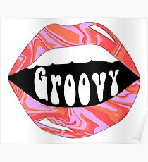 groovy lips Poster