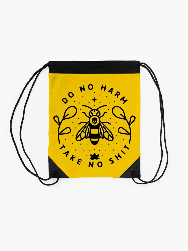 Alternate view of Do No Harm Drawstring Bag