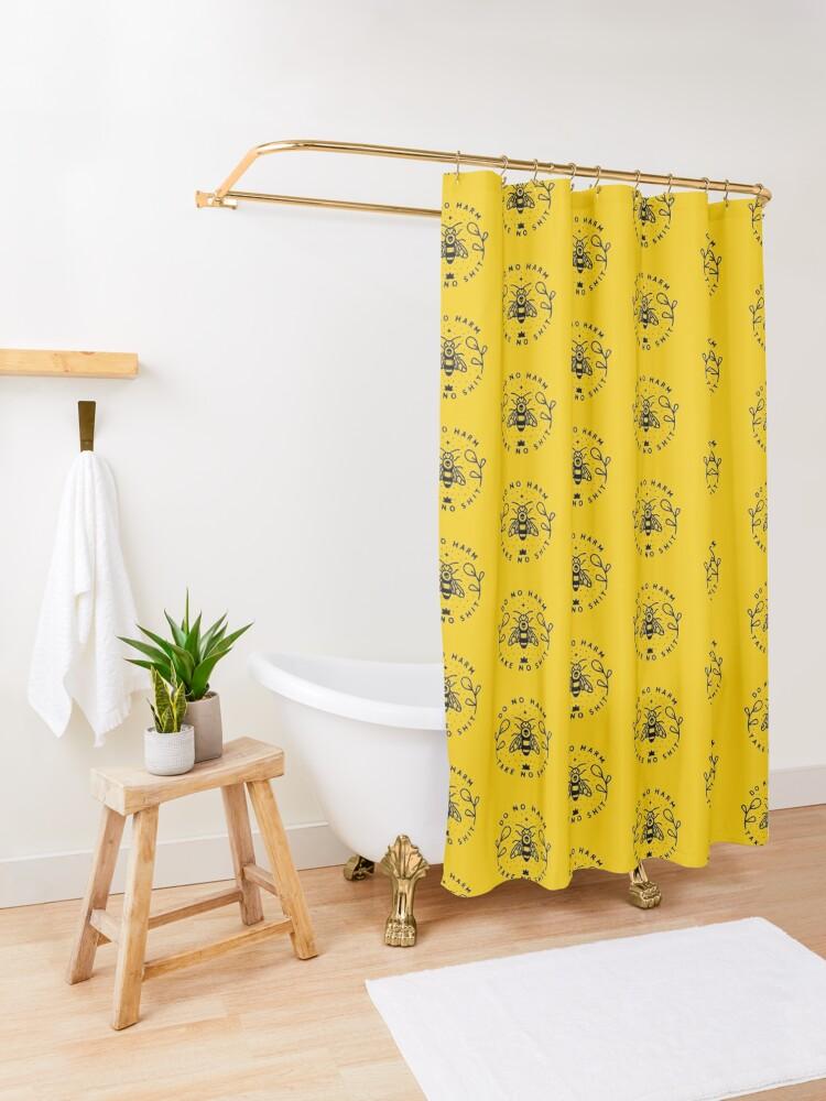 Alternate view of Do No Harm Shower Curtain