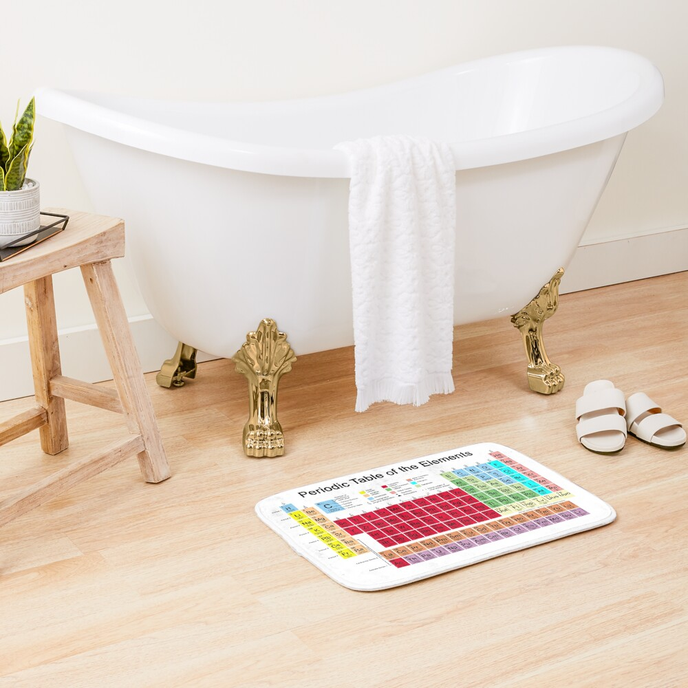 Periodic table of the Elements Bath Mat