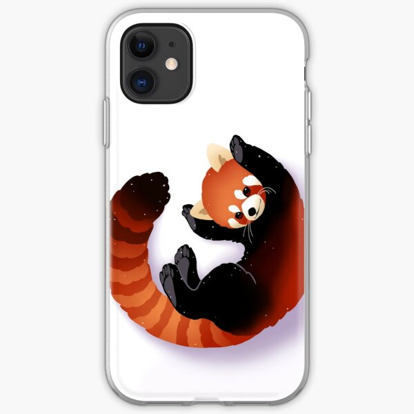 Panda rouge Coque souple iPhone
