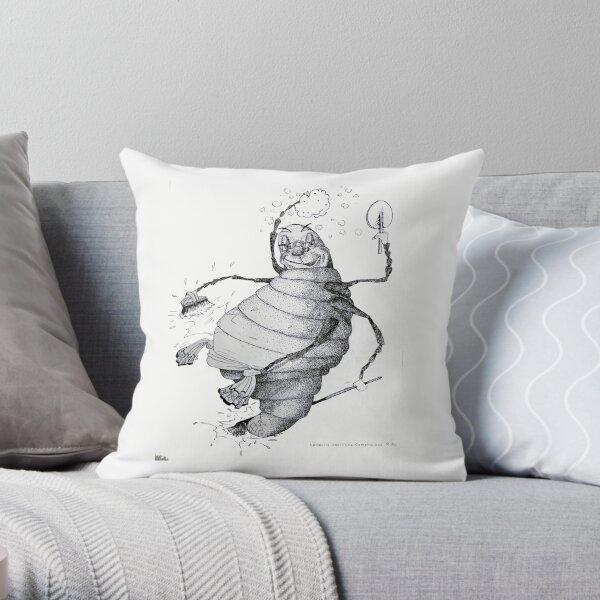 Glow-worm Throw Pillow