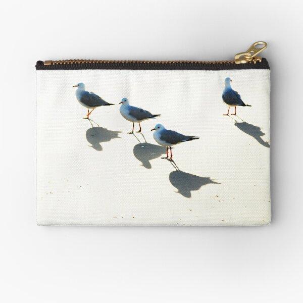 Seagulls, Sun & Shadows Zipper Pouch