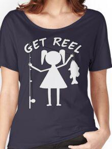 GET REEL GIRL Women's Relaxed Fit T-Shirt