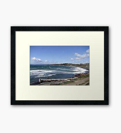 Whitecaps on the Beach Framed Print