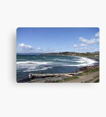 Whitecaps on the Beach Canvas Print