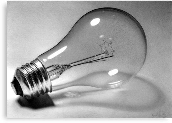 'End of an era' Lightbulb drawing by Matt Deakin
