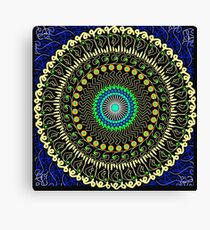 Macaroni and cheese mandala Canvas Print