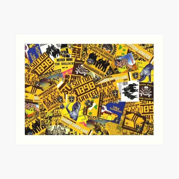 Stickerbomb! Art Print