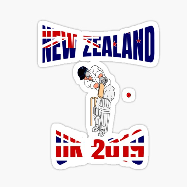 New Zealand Cricket Team World Cup UK 2019 Supporter Sticker
