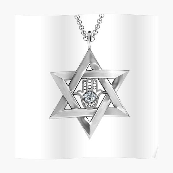 #Jewish #jewelry, #symbol, #design, crystal, gold, gift, sign, decoration, gemstone, shiny, precious gem, jew, jews Poster