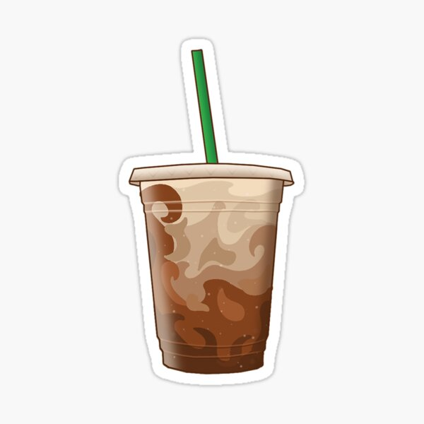 Iced Coffee with Milk Sticker