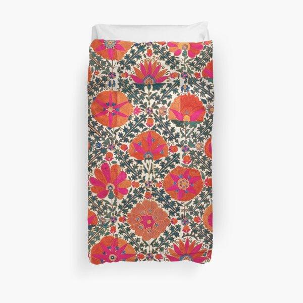 Kermina Suzani Uzbekistan Colorful Embroidery Print Duvet Cover