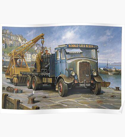 Leyland Hippo at Brixham. Poster