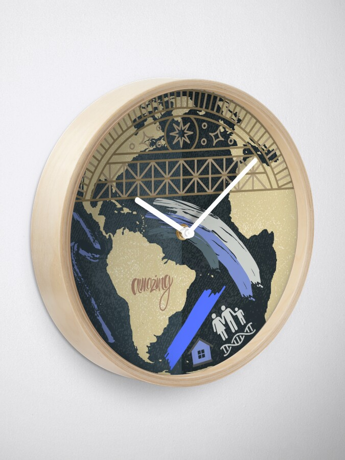 Alternate view of The world is your canvas. Clock
