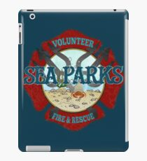 IT Crowd Inspired - Fire at Sea Parks - Sea Parks Volunteer Fire & Rescue - British Comedy Quotes iPad Case/Skin