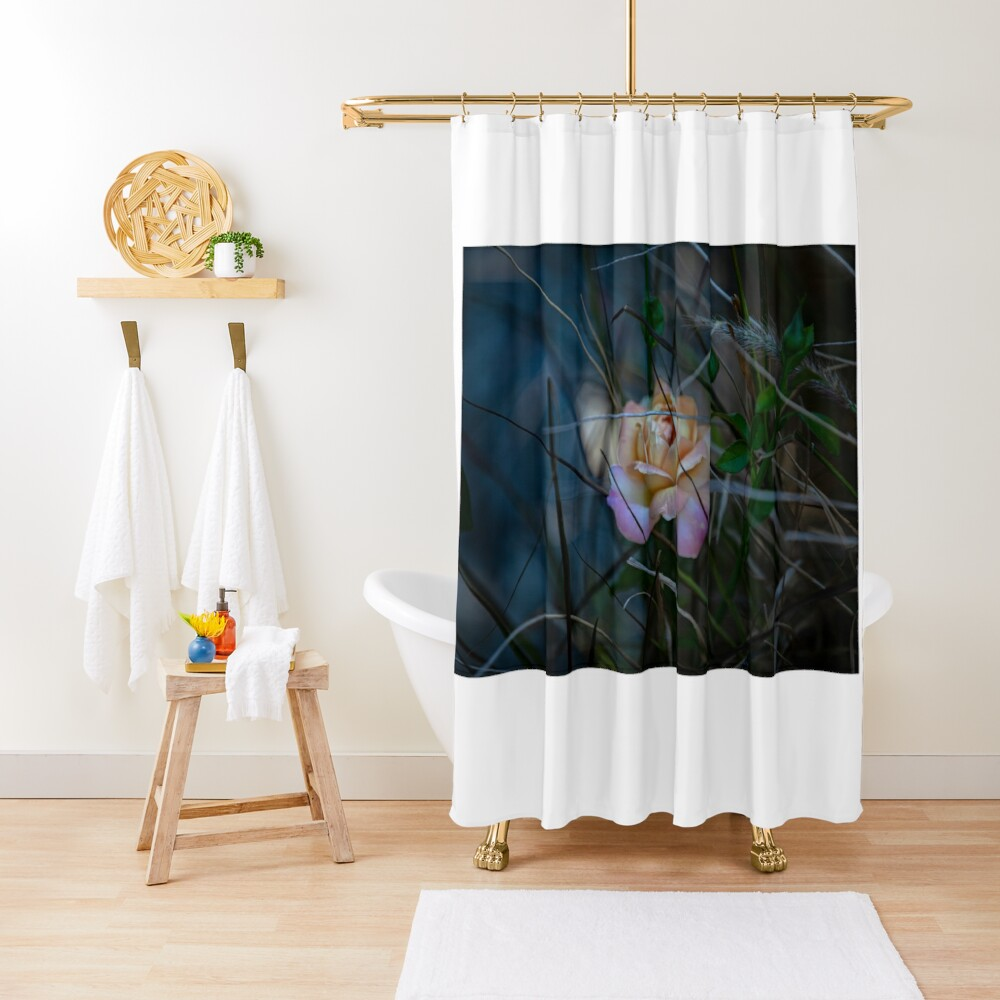 not just another rose Shower Curtain