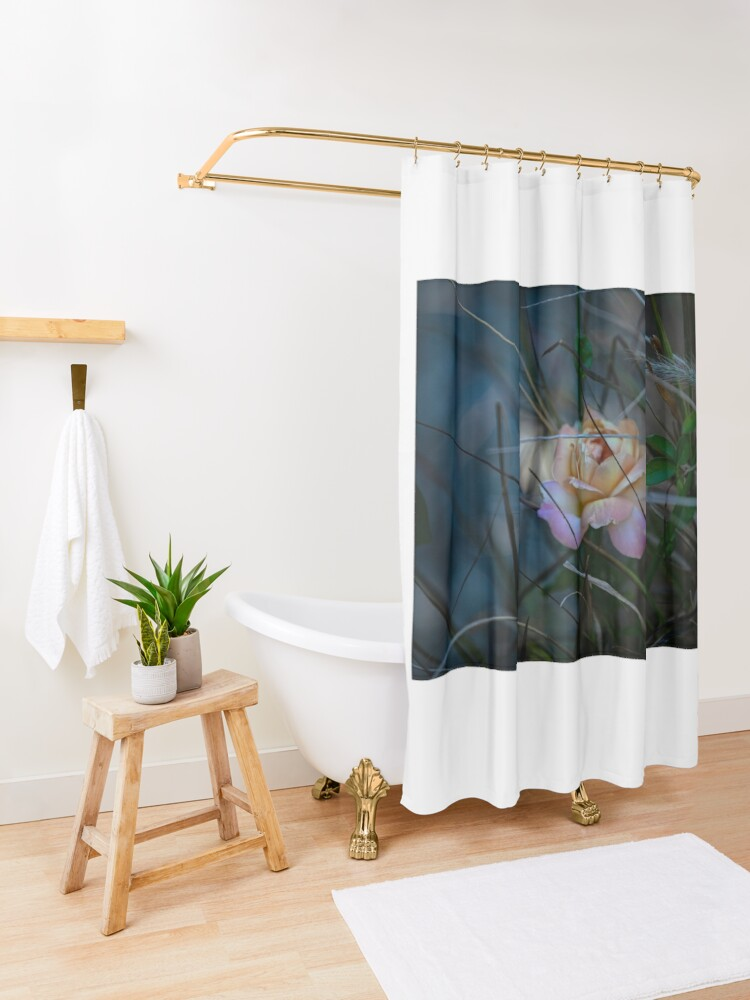 Alternate view of not just another rose Shower Curtain