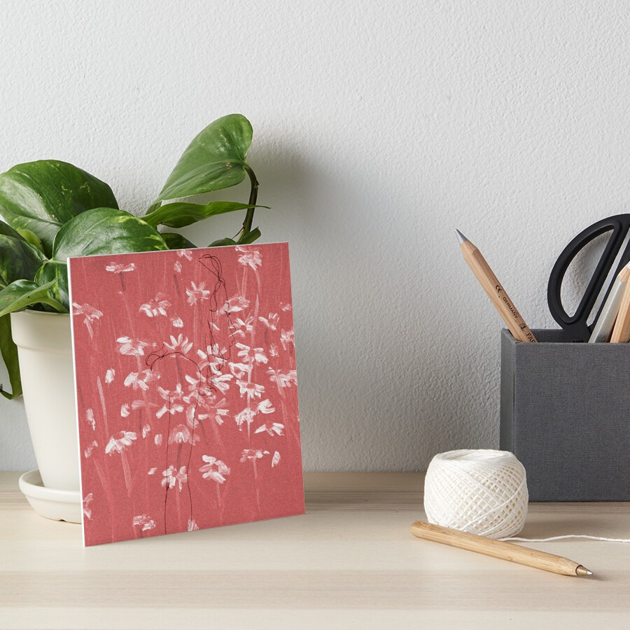 Girl in Red Chapter 1 Art Board Print