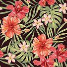 Painterly Hibiscus by nadyanadya