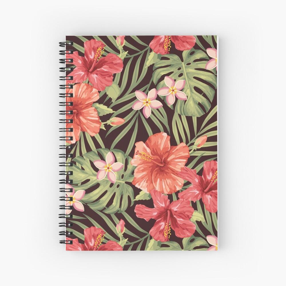 Painterly Hibiscus Spiral Notebook
