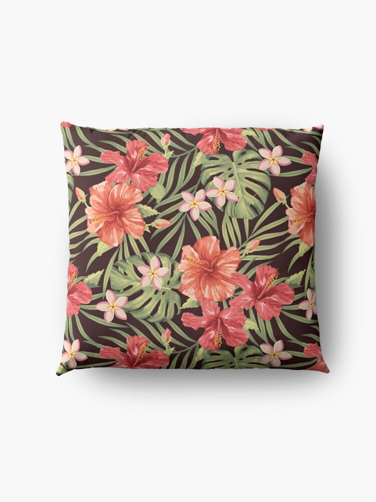 Alternate view of Painterly Hibiscus Floor Pillow
