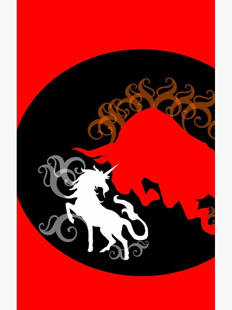 Unicorn vs the Red Bull by sorakaji