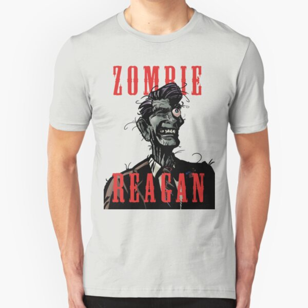 Zombie Reagan in Color Slim Fit T-Shirt